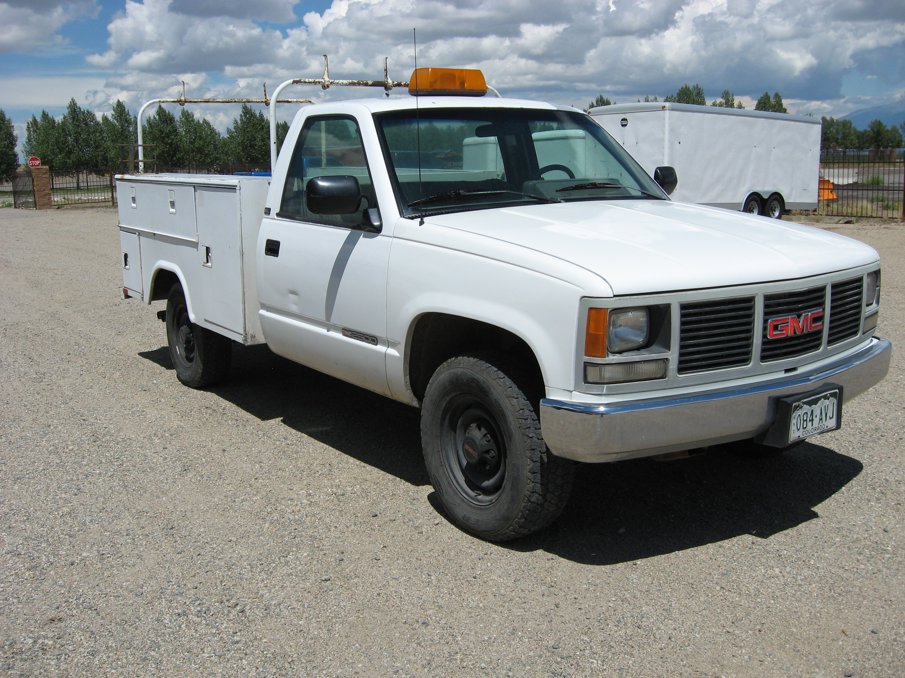 1993 gmc 3 4 ton 2500 utility truck city of alamosa. Black Bedroom Furniture Sets. Home Design Ideas