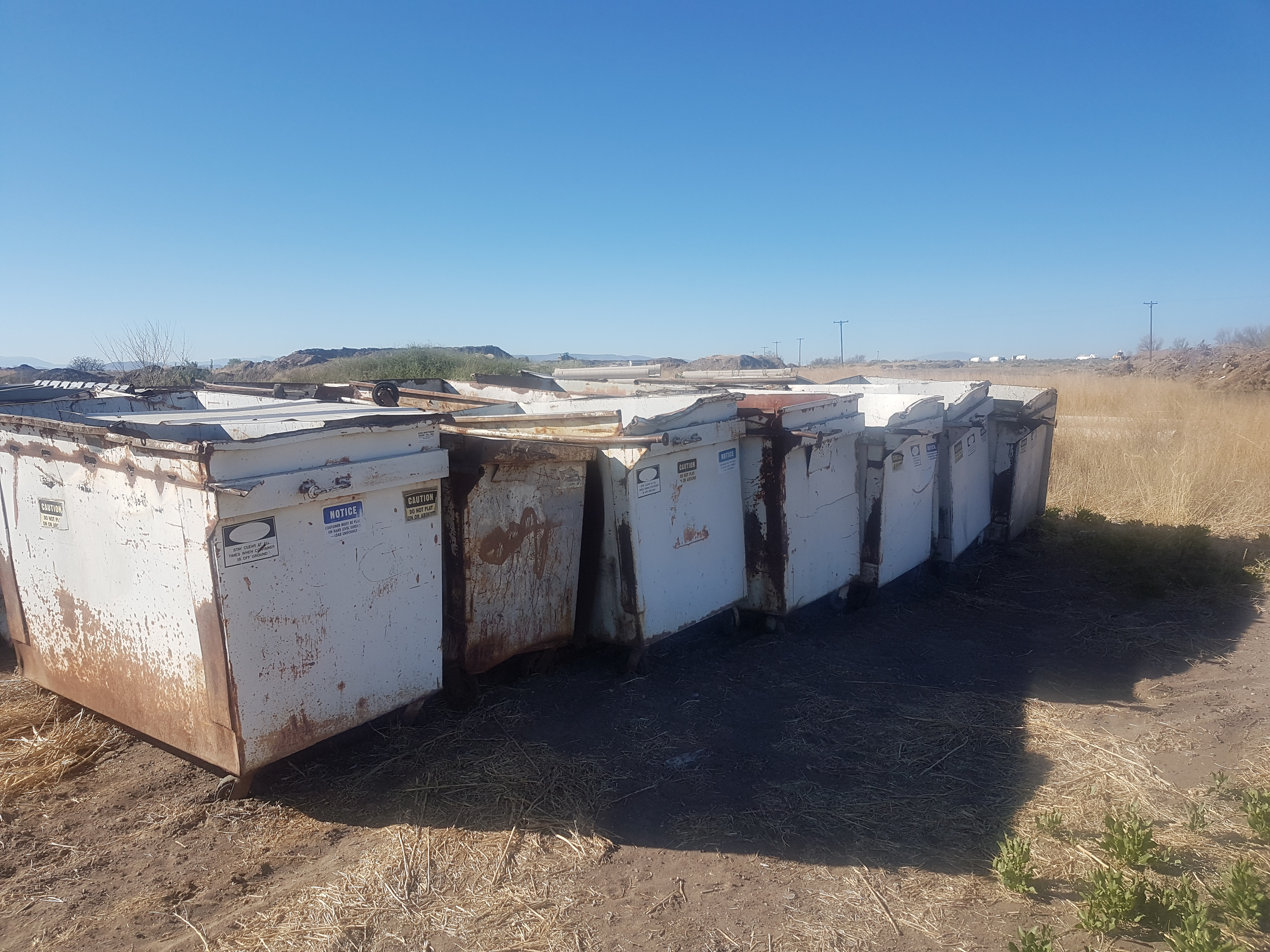 Lot of 22 Decommissioned Dumpsters