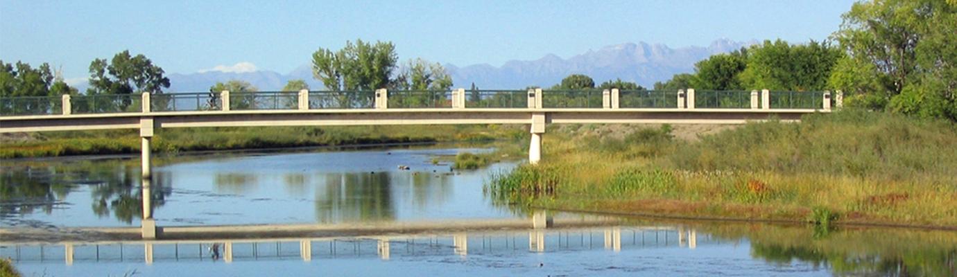 Photo of the Footbridge Across the Rio Grande.